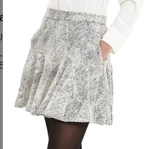 Banana Republic Cocoon Jacquard Fit & Flare Skirt